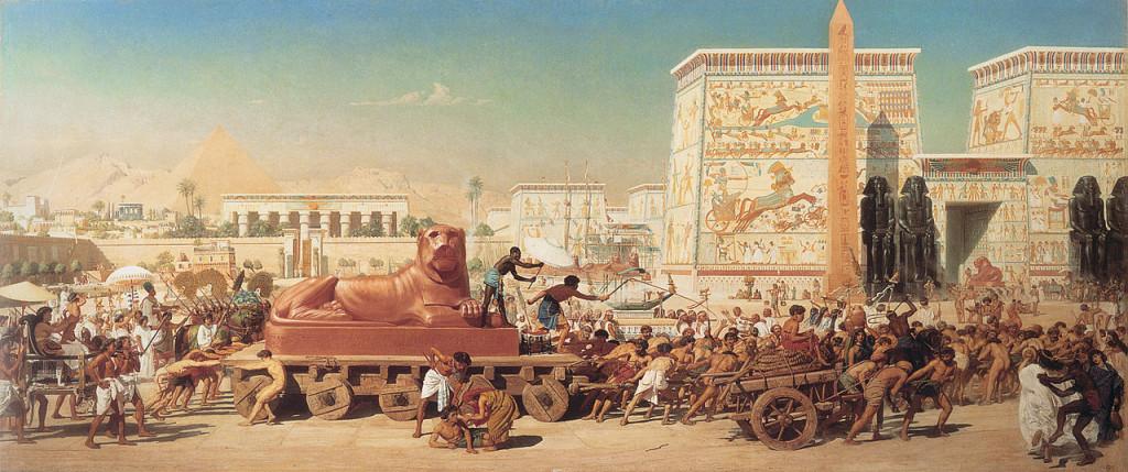 Israel in Egypt Edward Poynter, 1867. Guildhall Art Gallery, London.